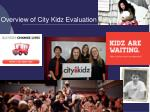 overview of city kidz evaluation