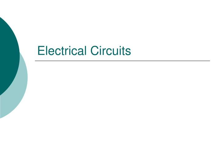 electrical circuits n.