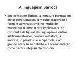 a linguagem barroca