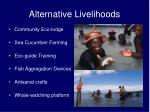 alternative livelihoods