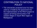 contribution to national policy1