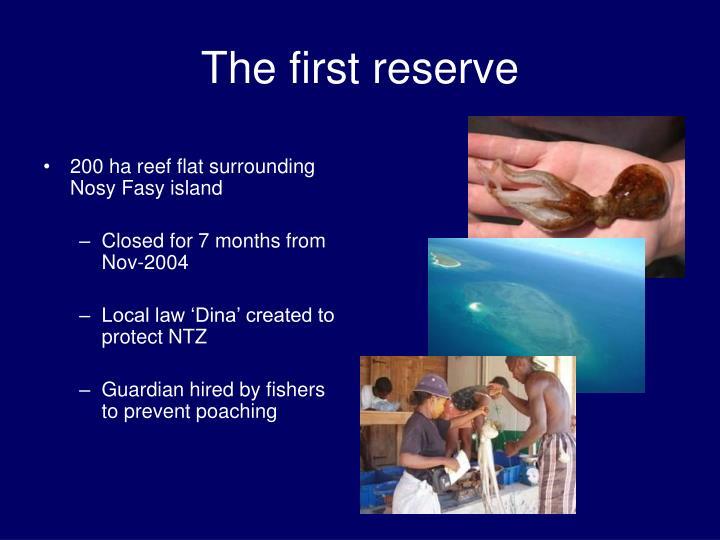 200 ha reef flat surrounding Nosy Fasy island