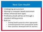 next gen health