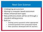 next gen science