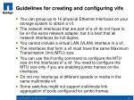 guidelines for creating and configuring vifs