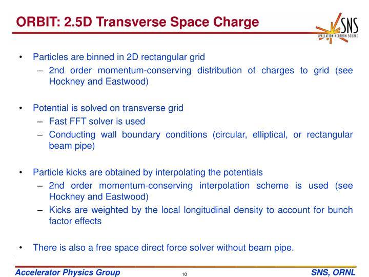 ORBIT: 2.5D Transverse Space Charge