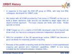 orbit history