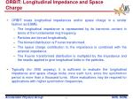 orbit longitudinal impedance and space charge
