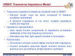 orbit transverse impedance model
