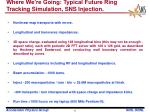 where we re going typical future ring tracking simulation sns injection