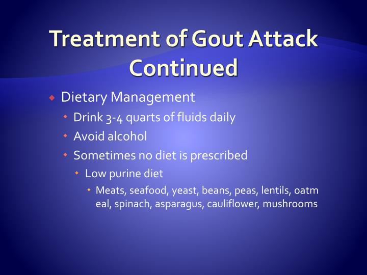 Treatment of Gout Attack