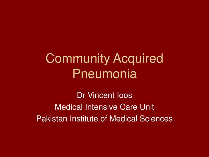 community acquired pneumonia n.