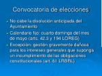 convocatoria de elecciones