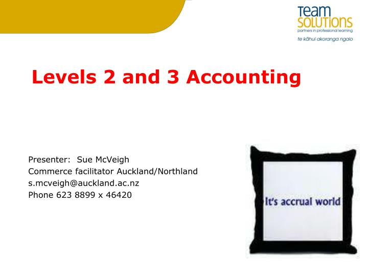 levels 2 and 3 accounting n.