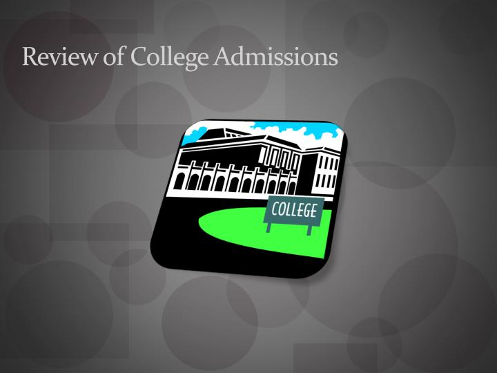 review of college admissions n.