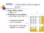 amac modify pattern string to adapt to quorum2