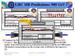 lhc mb predictions 900 gev