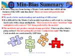 min bias summary