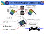 two particle angular correlations