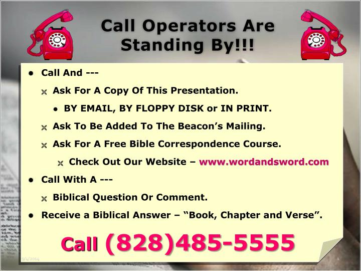 call operators are standing by n.