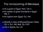the homecoming of menelaus