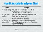 conflict escalatie volgens glasl
