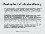 cost to the individual and family