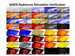 goes radiances simulation verification