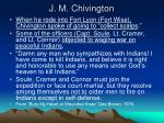 j m chivington