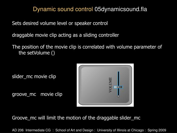 Sets desired volume level or speaker control