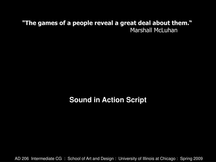 Sound in action script
