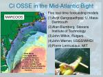 ci osse in the mid atlantic bight