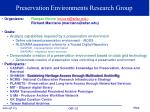 preservation environments research group