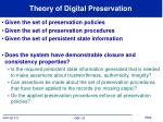 theory of digital preservation