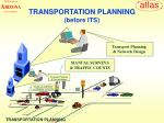 transportation planning before its