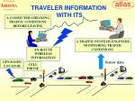 traveler information with its