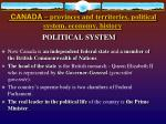 canada provinces and territories political system economy history1