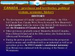 canada provinces and territories political system economy history6