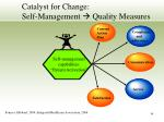 catalyst for change self management quality measures
