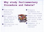 why study parliamentary procedure and debate