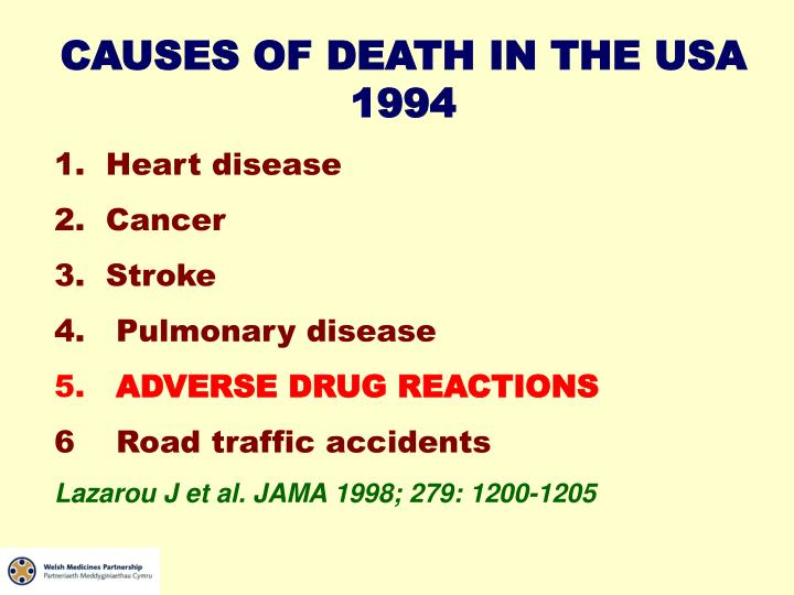 CAUSES OF DEATH IN THE USA 1994