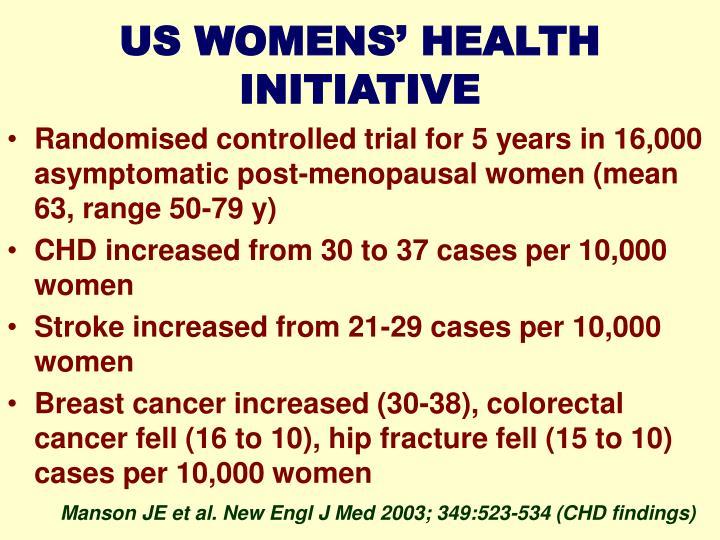 US WOMENS' HEALTH INITIATIVE