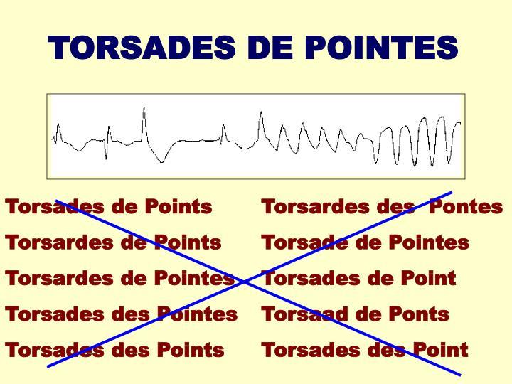 TORSADES DE POINTES