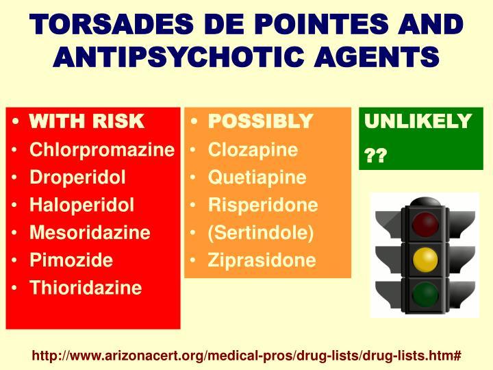 TORSADES DE POINTES AND ANTIPSYCHOTIC AGENTS