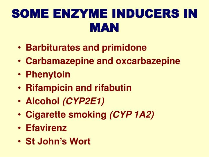 SOME ENZYME INDUCERS IN MAN