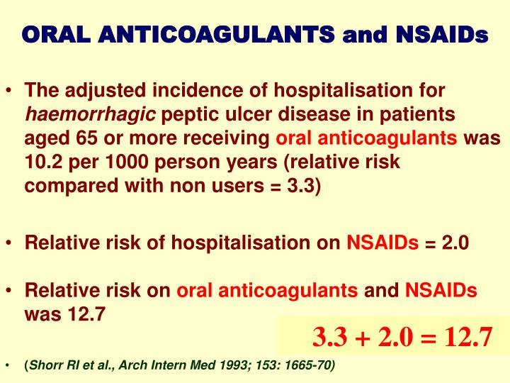 ORAL ANTICOAGULANTS and NSAIDs