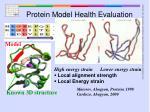protein model health evaluation