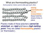 what are thermosetting plastics
