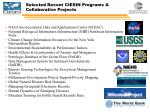 selected recent ciesin programs collaborative projects