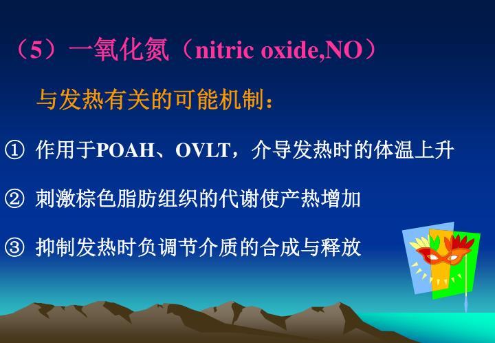 (5)一氧化氮(